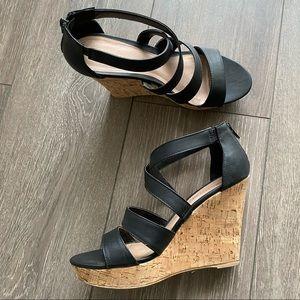 Cork platform Wedges heels - size 8.5